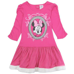Pink Minnie Mouse Girls Holiday Dress